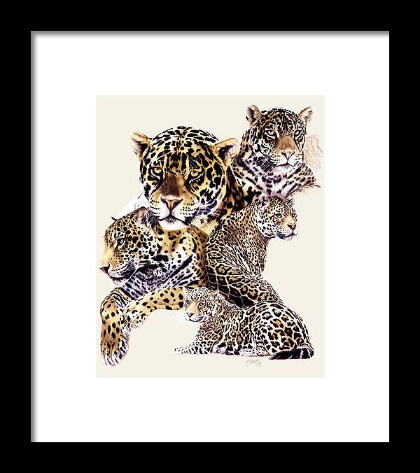 Jaguar Framed Print featuring the drawing Burn by Barbara Keith