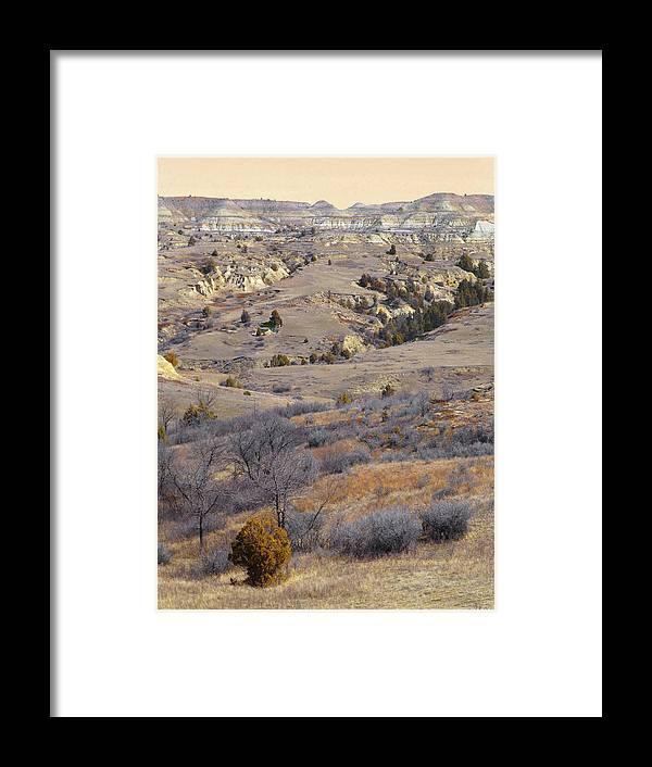 North Dakota Framed Print featuring the photograph Burning Coal Vein April Reverie by Cris Fulton