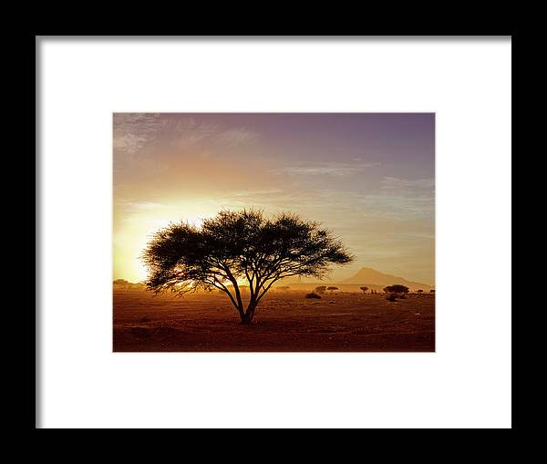Tranquility Framed Print featuring the photograph Burning Desert by Bernd Schunack