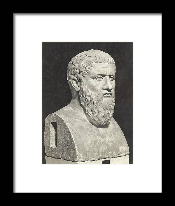 Art Framed Print featuring the photograph Bust Of Grecian Philosopher Plato by Bettmann