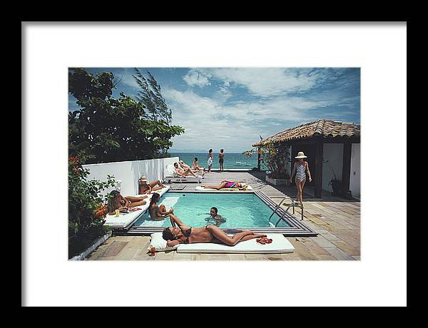 People Framed Print featuring the photograph Buzios by Slim Aarons