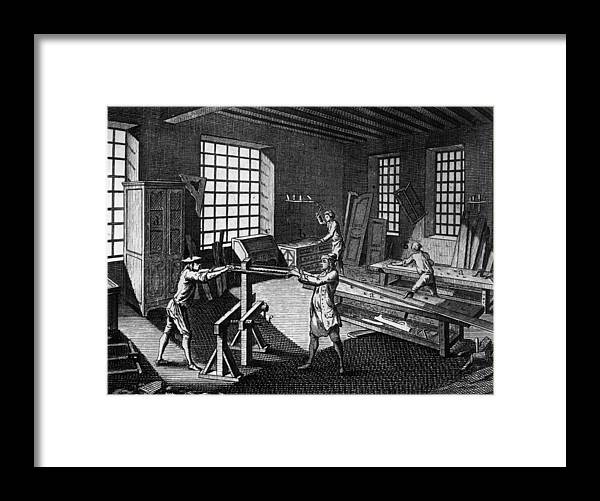 Drawer Framed Print featuring the photograph Cabinet Makers by Hulton Archive