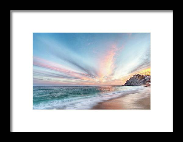 Beach Framed Print featuring the photograph Cabo San Lucas Beach Sunset Mexico by Nathan Bush
