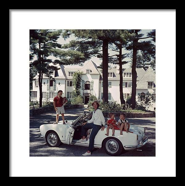 Child Framed Print featuring the photograph Cabot Family by Slim Aarons