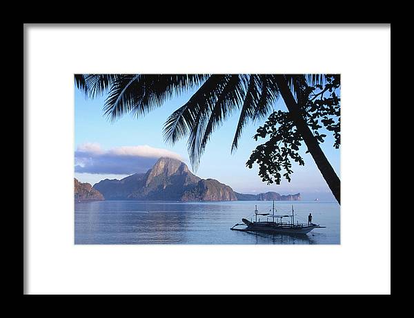 People Framed Print featuring the photograph Cadlao Island From El Nido, Sunrise by Dallas Stribley