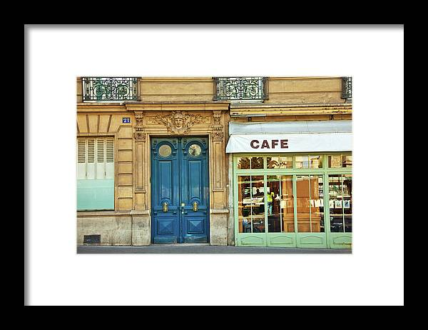 Diner Framed Print featuring the photograph Cafe In Paris by Nikada