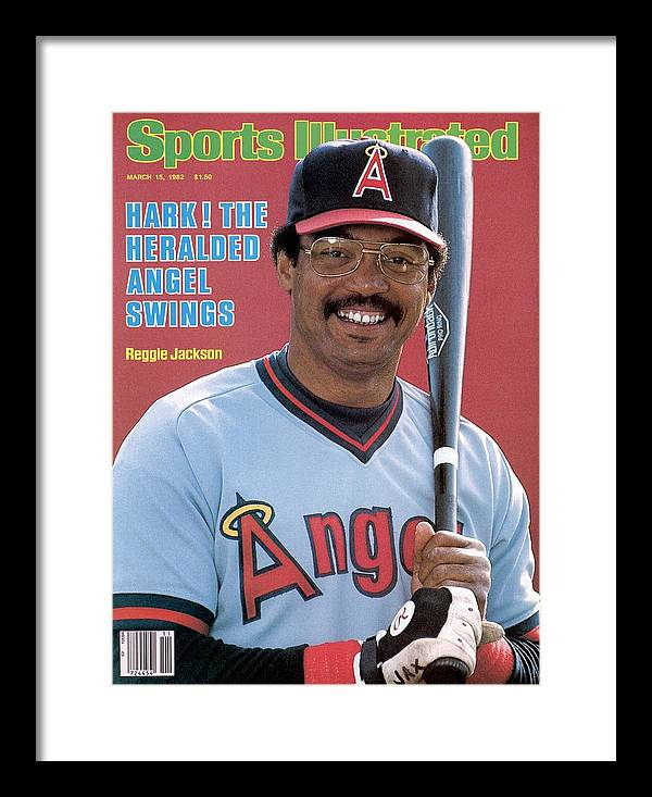 Magazine Cover Framed Print featuring the photograph California Angels Reggie Jackson Sports Illustrated Cover by Sports Illustrated