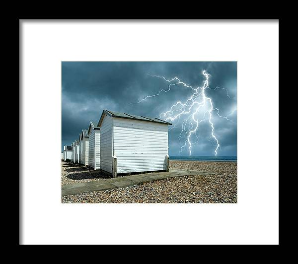 Water's Edge Framed Print featuring the photograph Calm Before The Storm by Blackbeck