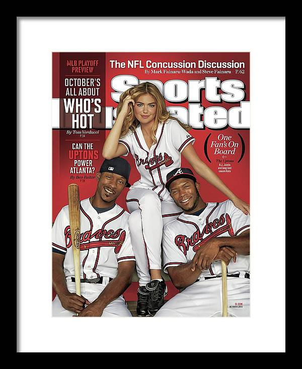 Magazine Cover Framed Print featuring the photograph Can The Uptons Power Atlanta One Fans On Board 2013 Mlb Sports Illustrated Cover by Sports Illustrated