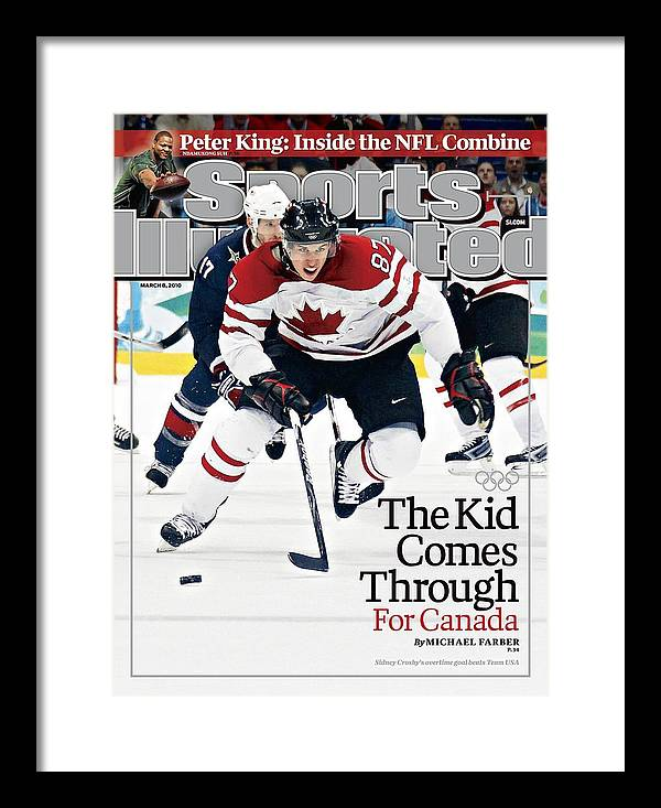 The Olympic Games Framed Print featuring the photograph Canada Sidney Crosby, 2010 Winter Olympics Sports Illustrated Cover by Sports Illustrated