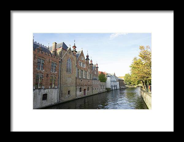 Old Town Framed Print featuring the photograph Canal In The Old Town Of Brugge by Christof Koepsel