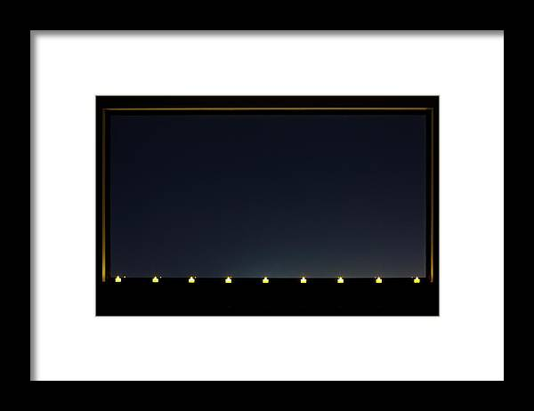 Empty Framed Print featuring the photograph Candles In A Row By The Window by Sot