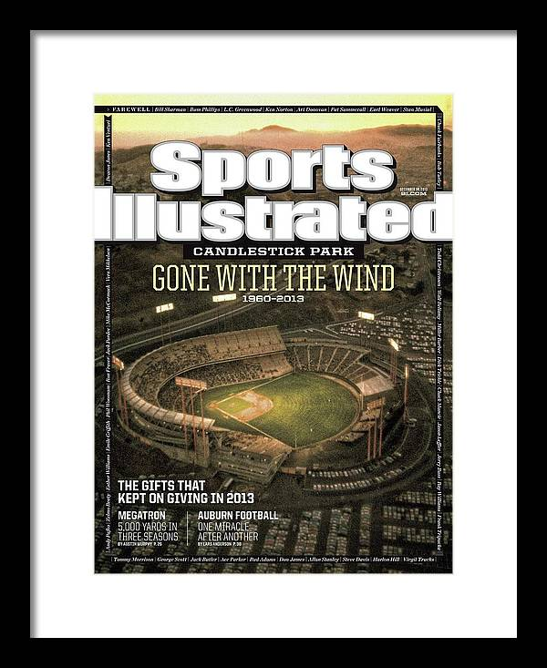 Candlestick Park Framed Print featuring the photograph Candlestick Park Gone With The Wind Sports Illustrated Cover by Sports Illustrated