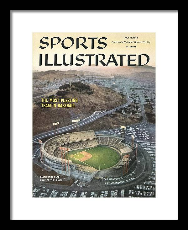 Candlestick Park Framed Print featuring the photograph Candlestick Park Sports Illustrated Cover by Sports Illustrated