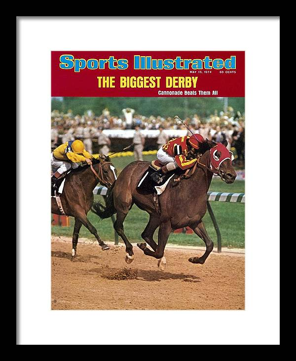 Horse Framed Print featuring the photograph Cannonade, 1974 Kentucky Derby Sports Illustrated Cover by Sports Illustrated
