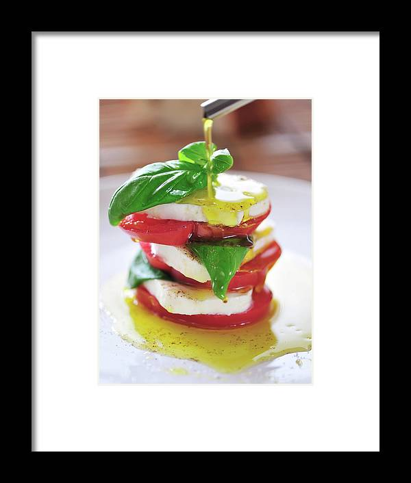 Caprese Salad Framed Print featuring the photograph Caprese by Tanya f