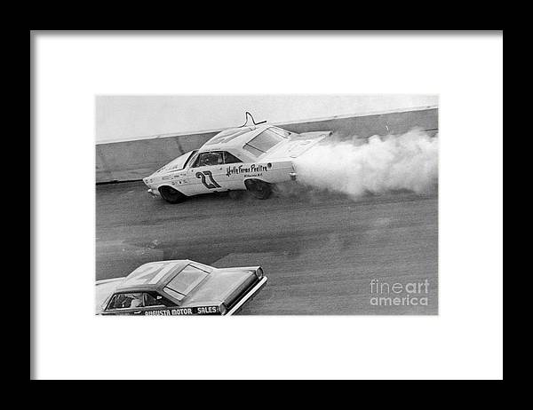 Professional Sport Framed Print featuring the photograph Car Crash During Daytona 500 by Bettmann