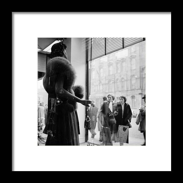 Cool Attitude Framed Print featuring the photograph Cardiff Shopping by Bert Hardy
