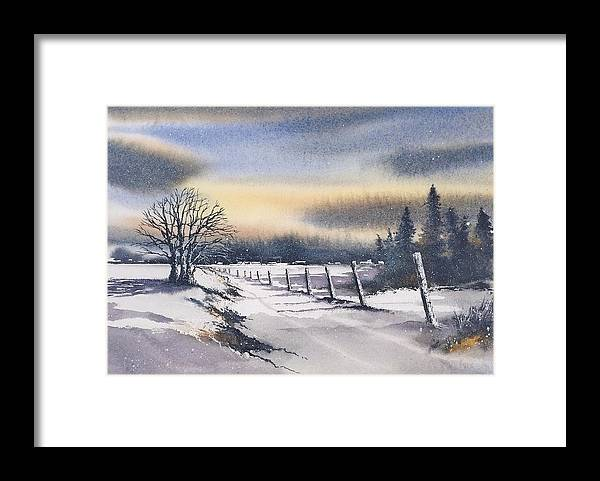 Ireland Framed Print featuring the painting Carlow Under Snow by Roland Byrne