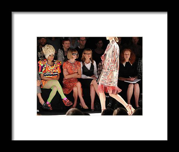 Spring Collection Framed Print featuring the photograph Carolina Herrera - Front Row - Spring by Mike Coppola