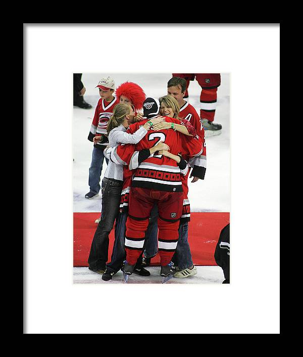 Playoffs Framed Print featuring the photograph Carolina Hurricanes Stanley Cup by Bruce Bennett