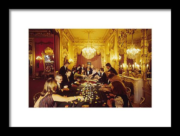 Baden-baden Framed Print featuring the photograph Casino Life by Slim Aarons