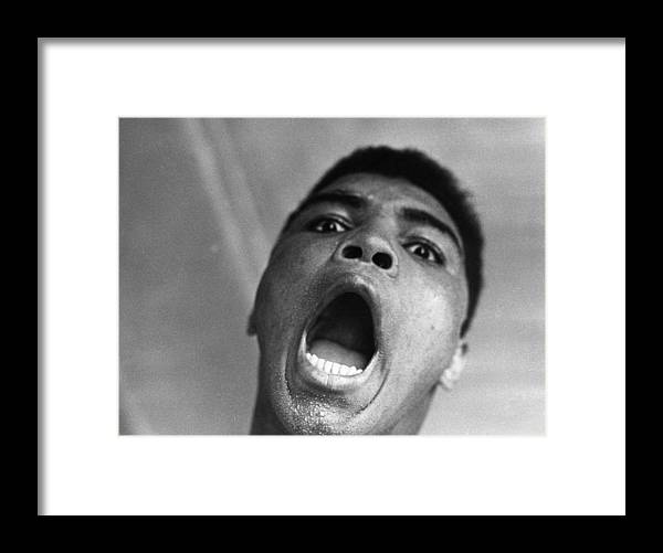 Heavyweight Framed Print featuring the photograph Cassius Clay by Harry Benson