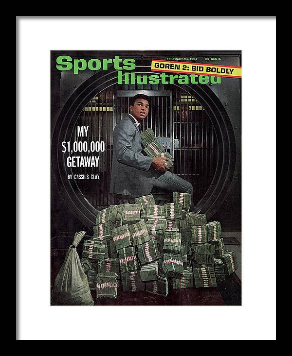 Magazine Cover Framed Print featuring the photograph Cassius Clay, Heavyweight Boxing Sports Illustrated Cover by Sports Illustrated