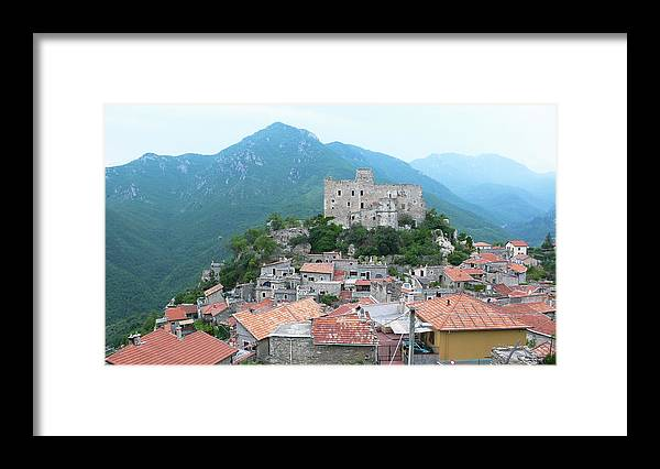Tranquility Framed Print featuring the photograph Castelvecchio Di Rocca Barbena by Photo By Randi Larsen