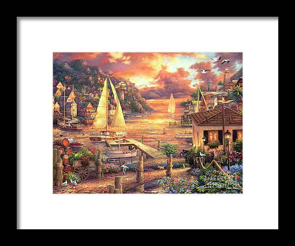 Imaginative Art Framed Print featuring the painting Catching Dreams by Chuck Pinson