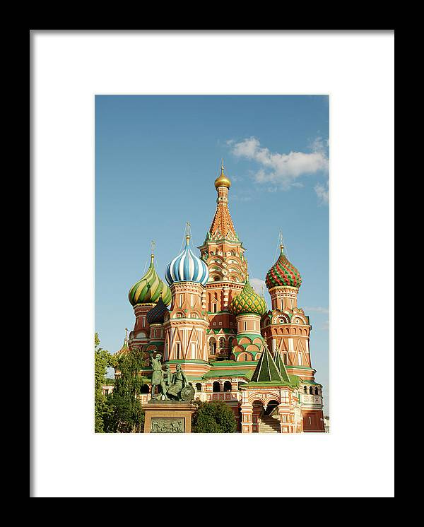 Statue Framed Print featuring the photograph Cathedral Of Saint Basil The Blessed In by Travelif