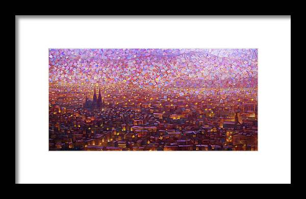 Rob Buntin Framed Print featuring the painting Cathedrale 1 by Rob Buntin