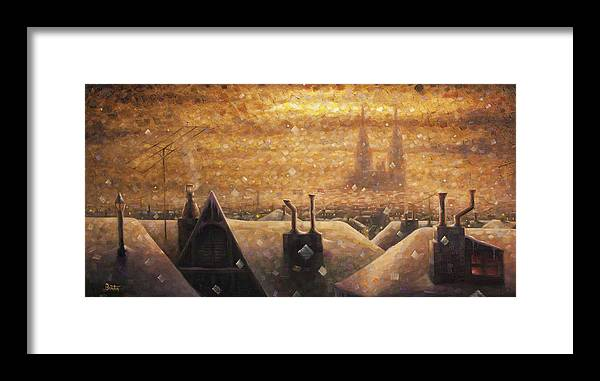 France Art Framed Print featuring the painting France Cathedral 4 by Rob Buntin