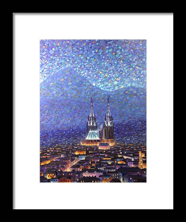 Rob Buntin Framed Print featuring the painting Cathedrale3 by Rob Buntin