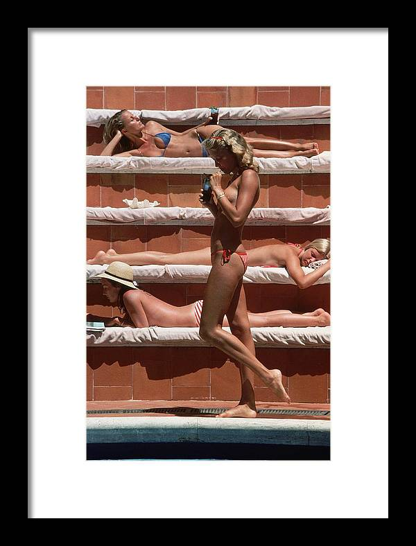 1980-1989 Framed Print featuring the photograph Catherine Wilke by Slim Aarons