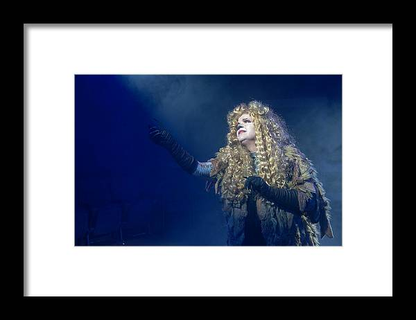 Broadway Framed Print featuring the photograph CATS Publicity image by Alan D Smith