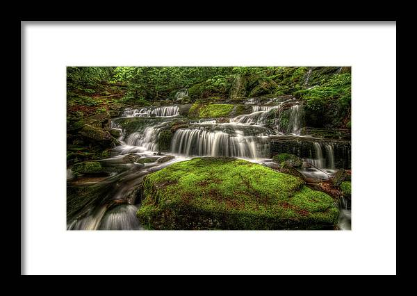 Scenics Framed Print featuring the photograph Catskill Waterfall by Kevin A Scherer