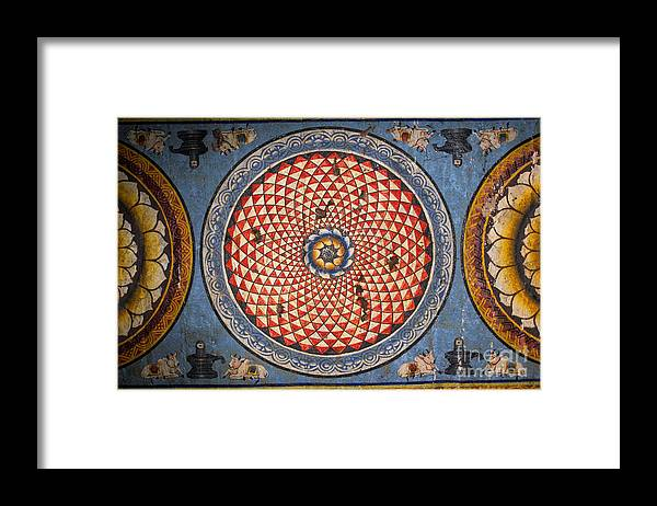 Civilization Framed Print featuring the photograph Ceiling Meenakshi Sundareswarar Temple by Aleynikov Pavel
