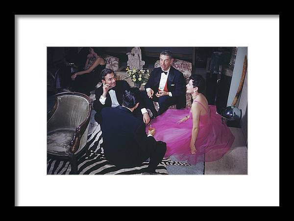 People Framed Print featuring the photograph Celebrity Guests by Slim Aarons