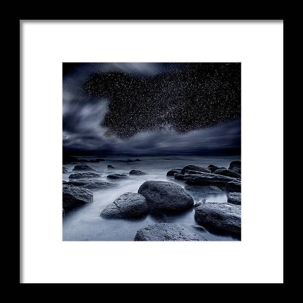 Night Framed Print featuring the photograph Celestial Night by Jorge Maia
