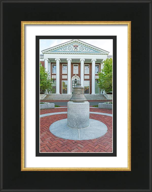 Centenial Bell and Baker Library at Harvard Business School by Ken Wolter