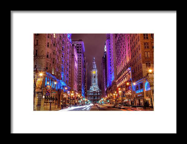 Land Vehicle Framed Print featuring the photograph Center City Philadelphia by Eric Bowers Photo
