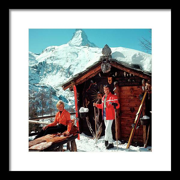 Skiing Framed Print featuring the photograph Chalet Costi by Slim Aarons