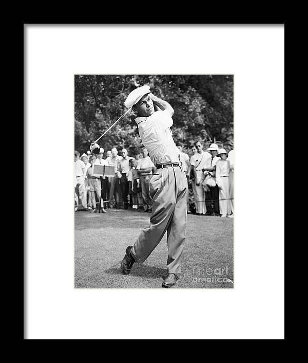 Following Framed Print featuring the photograph Champion Golfer Ben Hogan by Bettmann