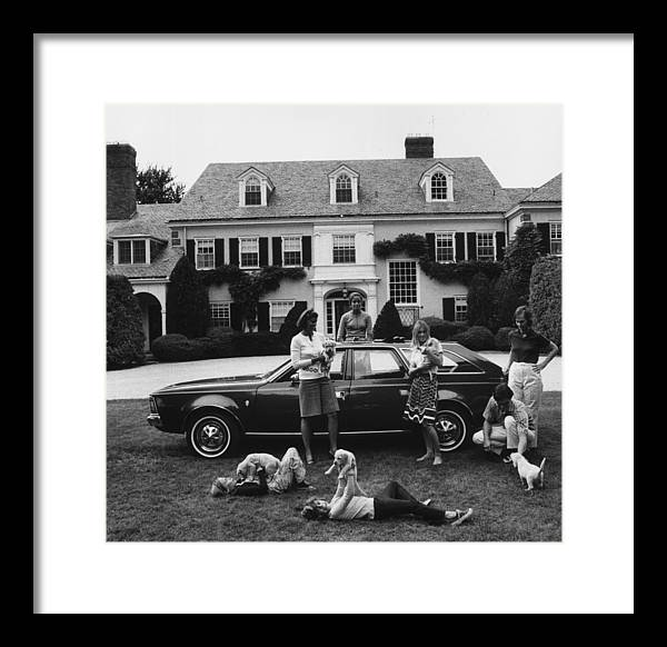 Pets Framed Print featuring the photograph Chapin Family by Slim Aarons