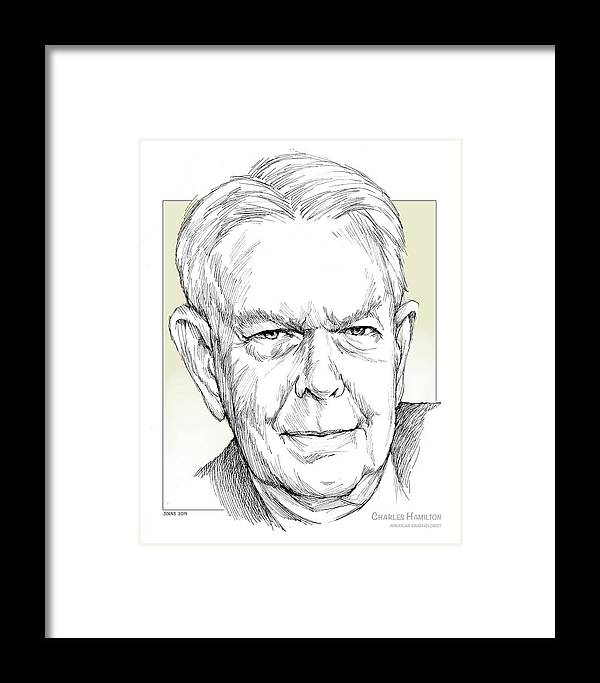 History Framed Print featuring the drawing Charles Hamilton by Greg Joens