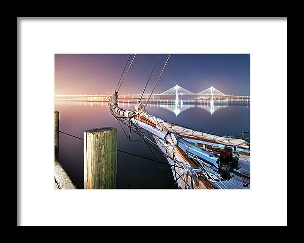 Tranquility Framed Print featuring the photograph Charleston Harbor by Sky Noir Photography By Bill Dickinson