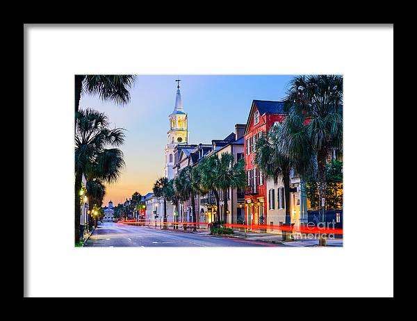 Usa Framed Print featuring the photograph Charleston, South Carolina, Usa by Sean Pavone