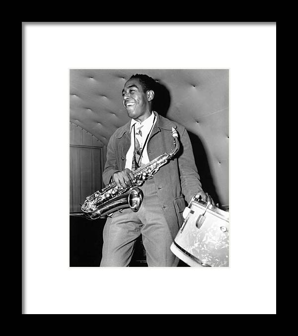 Music Framed Print featuring the photograph Charlie Parker Performing by Michael Ochs Archives