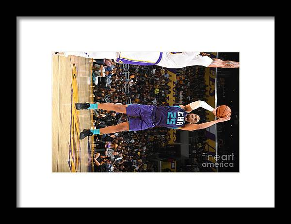 Nba Pro Basketball Framed Print featuring the photograph Charlotte Hornets V Los Angeles Lakers by Andrew D. Bernstein